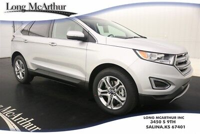 """2017 Ford Edge TITANIUM 3.5L V6 6 SPEED AUTOMATIC FWD SUV MSRP $40765 4 DOOR 5 PASSENGER SPORT UTILITY VEHICLE, BLIS, HANDS FREE LIFTGATE, 19"""" WHEELS"""