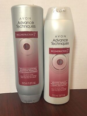 *Lot of 2* Avon Advanced Techniques *Reconstruction 7* Shampoo & Conditioner