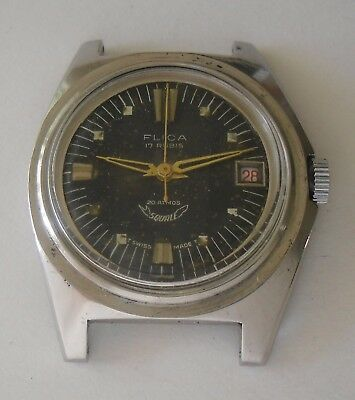 Squale Vintage Dive Watch Working Project for Watchmakers / Vintage Squale Flica