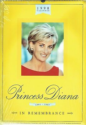 1998 Calendar - PRINCESS DIANA '1961 In Remembrance 1997'. Oliver Books, London