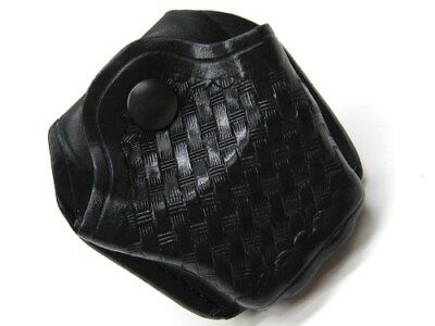 AKER LEATHER Basket Weave 606 Open Top Handcuff Case For Hinged Cuff! A606-BW