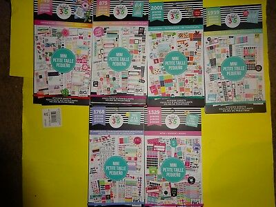 "For ""MINI SIZE PLANNERS 6 Sticker Books"" New EDITIONS By HAPPY PLANNER (30pg ea)"
