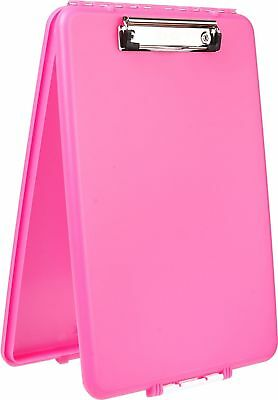 Pink Plastic Storage Office Nursing Clipboard Case Document Letter Size Holder