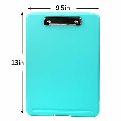 BLUE Plastic Storage Office Nursing Clipboard Case Document Letter Size Holder