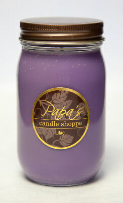 Papa's Candle Shoppe - Lilac 16 oz Mason Jar, Highly Scented Soy Candles!