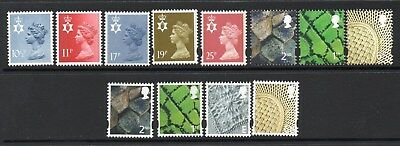 12 Different UM/MNH Northern Ireland Regional Definitives Including Machins