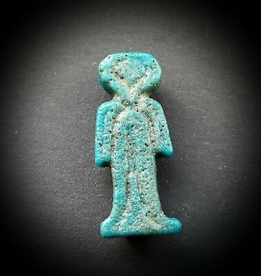 Egyptian Turquoise Glazed Girdle Or Tit Of Isis Amulet Saite Period 624-525 Bc