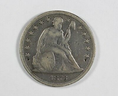 1873 Seated Liberty Dollar $1 Silver Coin Ex Jewelry