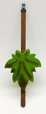 "Cuckoo Clock Pendulum 3"" Maple Leaf Style NEW GREEN German Made 8 3/4"" Length"