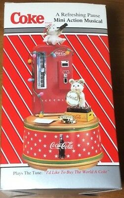 1995 Enesco Coca-Cola Music Box A Refreshing Pause Buy the World a Coke Theme