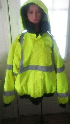 Occunomix Occulux Bomber Jacket 2XL Yellow class 3 hooded nice