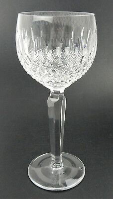 """Waterford Crystal Colleen Wine Hock Goblet 7 1/2"""" Glass Stem Cut"""