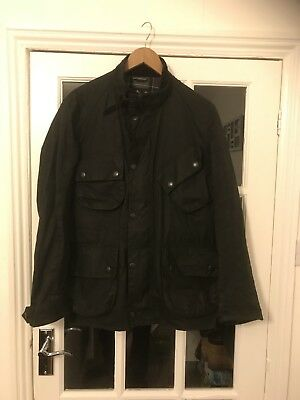 Authentic Mens Barbour International Duke Wax Jacket Size Small