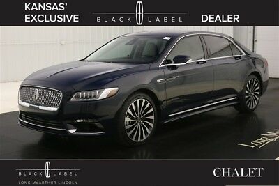 2017 Lincoln Continental BLACK LABEL CHALET THEME 2.7 V6 TURBO AWD SEDAN MSRP $66500 REVEL AUDIO SYSTEM ALCANTARA WRAPPED HEADLINER RHAPSODY BLUE ALPINE INTERIOR