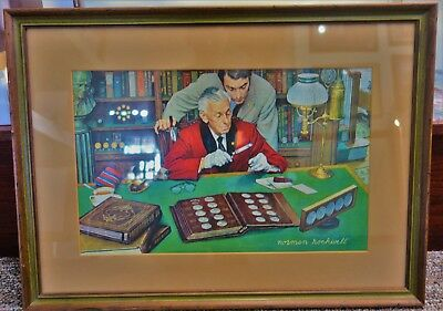 Norman Rockwell The Collector Framed Print Franklin Mint - 17.5X24 - I50