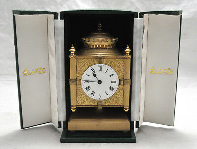 Rare Marshall Field's 4 Sided Heavy Desk Clock Chicago State St In Case
