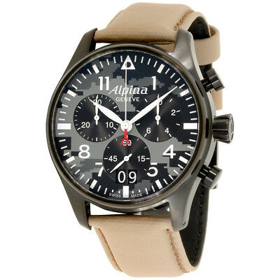 Alpina Startimer Camo Dial Leather Strap Men's Watch AL372BGMLY4FBS6