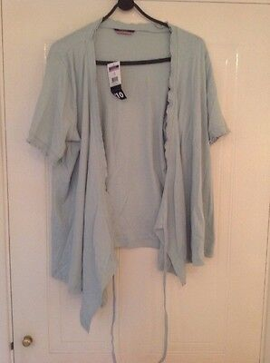 Green Maternity Buttonless Cardigan Size 16