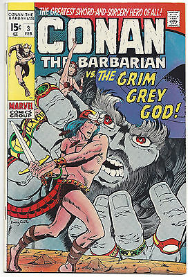 Conan the Barbarian #3 (VF/NM) 1971, limited distribution, Barry Smith art