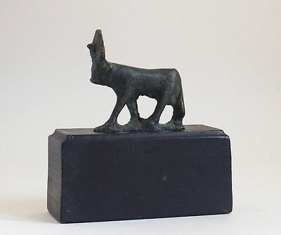 Fine ancient Egyptian bronze Apis bull