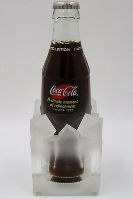*RARE! 1999 VIP Employee Coca Cola Bottle in Lucite Ice Cube Coke VIP Only