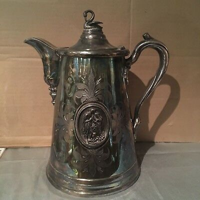 Vintage Silver Plated Carafe,marked Lyman's patent,with a  lovely Finial, USA