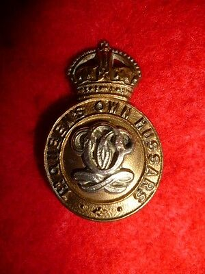 7th Queen's Own Hussars KC Collar Badge, WW1 period