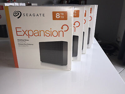 Seagate Expansion 8 To Disque dur externe 8To 8Tb  USB 3.0 - NEUF  Garantie 1 an