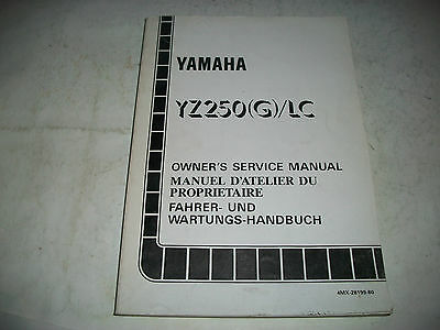 Official 1995 Yamaha Yz250(G)/lc  Motorcycle  Service Manual Clean More Listed