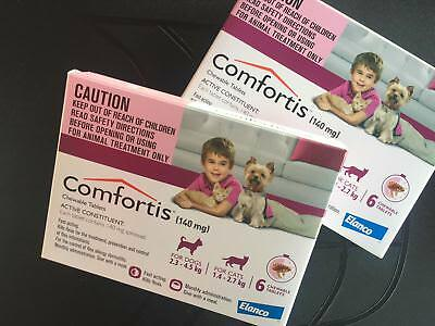 2 BOXES 6 Flea Control Tablet Extra Small Cats 3-10lbs & Dogs 5-10lbs 140mg