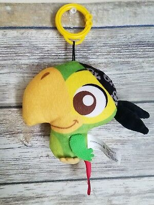 TWO Skully Disney Jake And The Never Land Pirates Plush Keychains