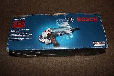"""NEW Bosch AG40-85P 8.5 Amp, 4-1/2""""  Corded Angle Grinder with Paddle Switch"""