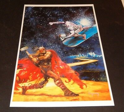 MARVEL ZOMBIES SIGNED Art Print by Arthur Suydam  SILVER SURFER VS THOR (4)