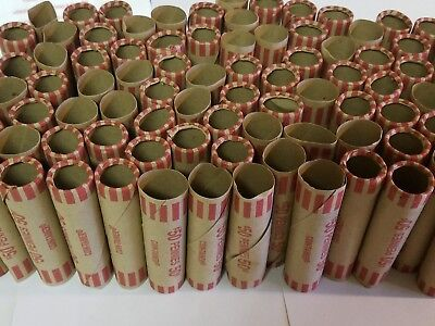 100 Coin-Tainer Paper Penny Wrappers. Pre-Crimped End Shotgun Rolls. 50 Cents ea