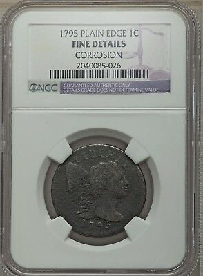 1795 1C Flowing Hair Large Cent (Plain Edge) NGC Fine Details #2040085-026
