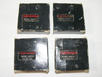 4 - OPTO 22 Model 240D10 Solid State Relay 3-32 VDC Control