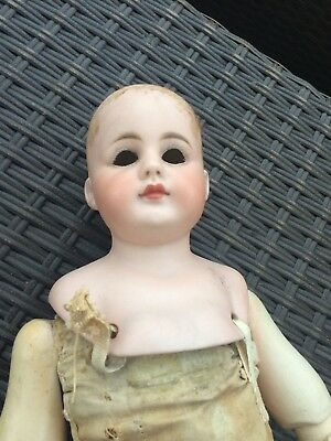 """Simon and Halbig 950 Antique Bisque Doll Solid Dome Closed Mouth 17"""""""