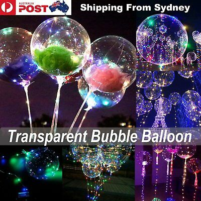 Transparent Bubble Balloon Sticks / 50pc Feathers / 20LED String Battery Lights