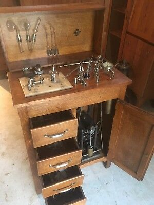 Antique Max Wocher & Son Oak Electrical Office Outfit