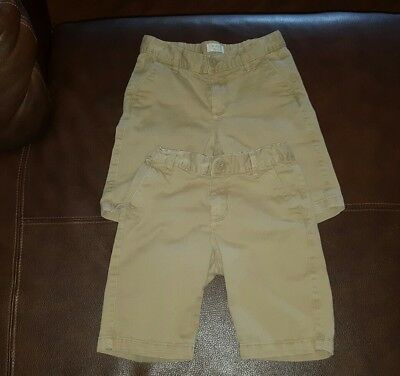 Lot of 2 The Children's Place Girls Uniform Shorts Tan sz 8