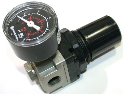 """UP TO 3 NEW SMC 3 to 30 PSI 1/4"""" NPT AIR REGULATORS WITH GAUGE NAR2000-N02-1"""