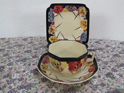 Oversize Royal Doulton Pansy Trio D4049  Excellent #3 Rd No 597783 Oversize