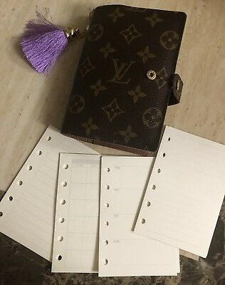 Agenda-PM-Mini-Inserts-Blank-Monthly-Weekly-Refills Fits Louis Vuitton PM Agenda