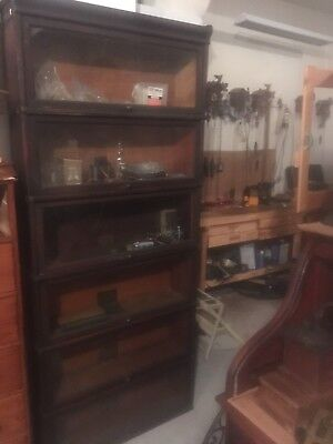 Antique Globe Wernicke  6 Stack Original Oak Barrister Bookcase