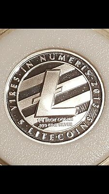 2013 FULLY FUNDED Lealana 5 LiteCoin (5 LTC) 1/4 oz Silver SUPER RARE! *Lower $*