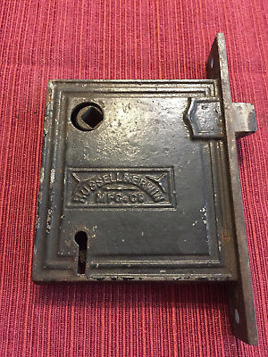 "Antique MORTISE marked ""Russell & Erwin Mfg Co"" w/ ""Patented 1862 July 15"" -RARE"