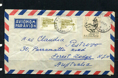 Yugoslavia 1963 Stamp Cover Airmail To Australia Lot 164