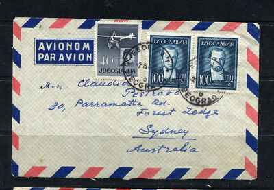 Yugoslavia 1962 Stamp Cover Airmail To Australia Lot 166