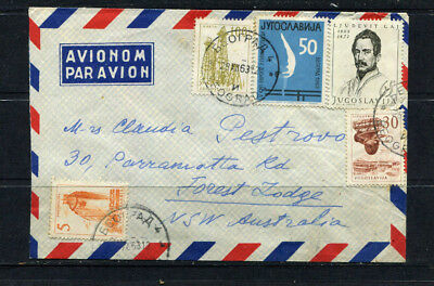 Yugoslavia 1963 Stamp Cover Airmail To Australia Lot 167