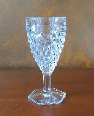 """Fostoria American Clear 7"""" Hex Footed Water Goblet(s)"""